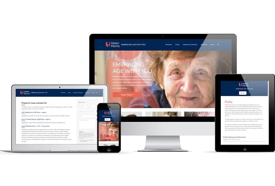 Newly designed website for Helen Morris